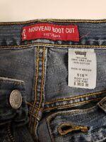 LEVI'S 515 Size 8 Mis M Light Wash Nouveau Boot Cut Low Rise Distressed Jeans 16