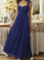 Brynne Lace Trim Gown Dress formal wear by Midnight Velvet new