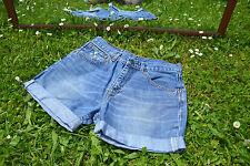 Vtg Levis 525 Denim Studs Pants Jeans Shorts Customised High Waist sz W29 M52