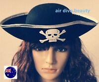 Adult Women Men Skull Pirate Captain Halloween Party Fancy Costume Hat Cap
