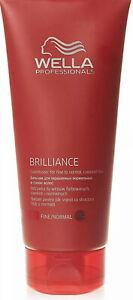 Wella Brilliance Conditioner for Coarse Coloured treated Fine normal Hair 200ml