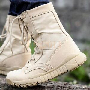 Mens Army Tactical Outdoor Desert 07 Combat Shoes SZ4.5-10 Military Ankle Boots