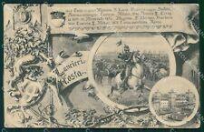Militari Reggimentali VI Lancieri di Aosta Ferrara 1909 cartolina XF2132