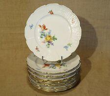 12 assiettes plates porcelaine de Limoges Raynaud décors de fleurs