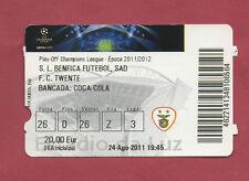 Orig.Ticket   Champions League  2011/12   BENFICA LISSABON - TWENTE ENSCHEDE  !!