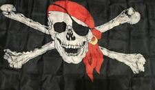 Large Jolly Roger Pirate Flag Skull & Crossbone Flags 90x150cm Pirate Party