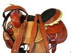 CUSTOM MADE WESTERN SADDLE BARREL RACING HORSE TACK PLEAURE FORAL TOOLED 15 16