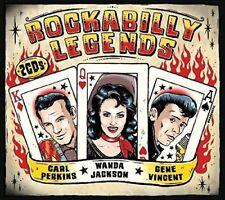 ROCKABILLY LEGENDS  (WANDA JACKSON, CARL PERKINS, GENE VINCENT)  2 CD NEW
