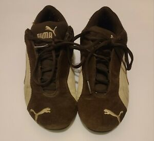 Puma Speed Cat Brown & White Vintage Womens Suede/Leather Sneakers Tennis Sz 8.5