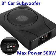 "8"" Inch Car Enclosure Subwoofer Sub Woofer 500W Amplifier Slim Amp Audio Giantz"