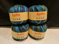 Katia LuLu Yarn Color #6404 Knitting Crafts New Lot of 4 Skeins