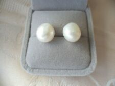Vintage Jewellery Baroque Pearl Earrings Sterling Silver Antique Jewelry Pearls