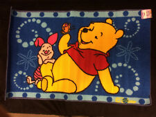"Winnie The Pooh Bear Piglet Butterfly Blue Tufted Rug NEW 20"" x 30"""