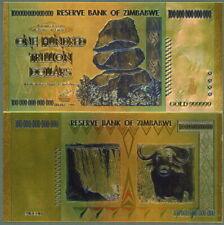 ZIMBABWE GOLD $100 TRILLION FANTASY ART GOLD FOIL POLYCARBONATE NOVELTY NOTE!