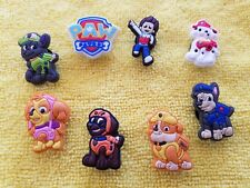 PAW PATROL shoe charms/cake toppers!! Lot of 8!! FAST USA SHIPPING