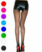 d2bf20afecbc6d New Music Legs 873 Sheer Pantyhose With Rhinestone Backseam | eBay
