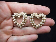 Authentic Vintage-1950's Faux Pearl Heart Scatter Brooch/Pin