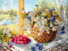 New Counted Cross Stitch Kit 'Summer Morning' Flowers