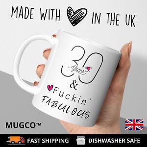 Fuckin-Fabulous 30th Birthday Mug Years Cup Gift Present Her Friend Rude 30