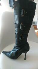 Sachi boots black genuine leather - size 7 (worn twice)