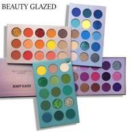 60 Colors BEAUTY GLAZED 4 In 1 Color Board Eyeshadow BEST Palette Long E9Z0