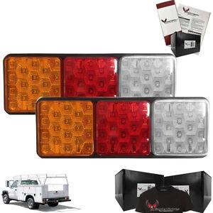 Eagle Lights Rubbolite 8002 LED Left & Right side with 4x4 Lenses Rubbolite
