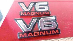 DODGE DAKOTA RAM V6 MAGNUM FENDER  EMBLEM WITH PINS OEM