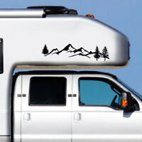 1pc~100cm Tree Mountain Decal Scene Large Northwest Car Sticker Truck RV Offroad