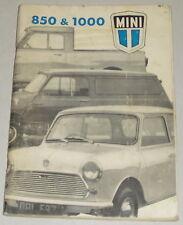 Instrucciones Servicio/Manual Austin Morris Mini 850 1000 Alemán Von 1972