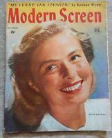 MODERN SCREEN ~ november 1945 ~ INGRID BERGMAN cover