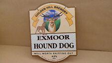 Golden Hill Exmoor Hound Dog Ale Beer Pump Clip Pub Bar Collectible 36