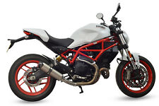 Ducati Monster 797 SP Diabolus Plain Titanium Round XLS Carbon Outlet Exhaust