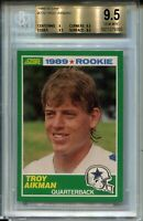 1989 Score Football #270 Troy Aikman Rookie Card RC Graded BGS Gem Mint 9.5