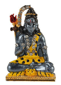 IBA Indianbeautifulart 5.2cm Lord Shiva Marble Dust Statue Sculpted-8PX