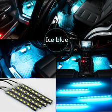 4X Ice Blue 9LED Car SUV Interior Atmosphere Glow Decor Neon Light Strip Bars CN
