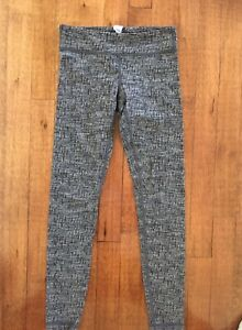 Ivivva 8 Girls Lululemon Rythmic Tight Leggings Textured Gray