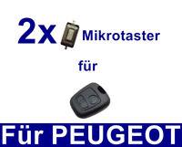 2x Auto Schlüssel Mikrotaster Schalter für Peugeot 106 206 207 306 307 406 806