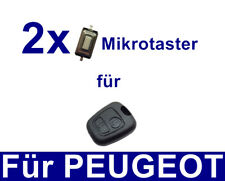 2x Clé de voiture MICROSONDE interrupteur pour Peugeot 106 206 207 306 307 406