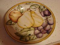 American Atelier China Stoneware Pompeii Fruit 5019 Salad Plate Pears   Mint