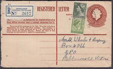 1956 Australia Uprated QEII 1/6 1/2 Endsleigh NSW Registered Envelope: Melbourne