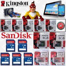 Carte mémoire SANDISK / KINGSTON Micro SDHC SDXC SDCA SD CF : 4 8 16 32 64 Go Gb