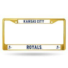 Kansas City Royals MLB Licensed Gold Painted Chrome Metal License Plate Frame