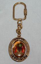 Jerusalem Spinner Keychain Gold Metal