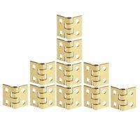 10 Stück Metall Hardwear Mini Kleine Scharniere mit Nägeln für Puppenhaus Miniat