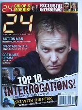 "KIEFER SUTHERLAND  Sept/Oct 2007 ""24"" Magazine #9   TOP 10 INTERROGATIONS"