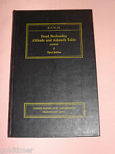 VINTAGE OLD BOOK  WWII 1943 US GOVT DEAD RECKONING ALTITUDE & AZIMUTH TABLE