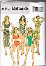 Easy Misses 1-Piece 2 Piece Swimsuit Wrap Butterick Sewing Pattern 14 16 18 20