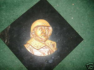 General Patton bronze Armand Lamontagne hand signed rare sculpture cold cast