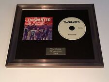 PERSONALLY SIGNED/AUTOGRAPHED THE WANTED - BATTLEGROUND FRAMED CD PRESENTATION.