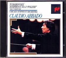 Claudio ABBADO: TCHAIKOVSKY Symphony No.3 Polish & 1812 Overture CD Chicago SO